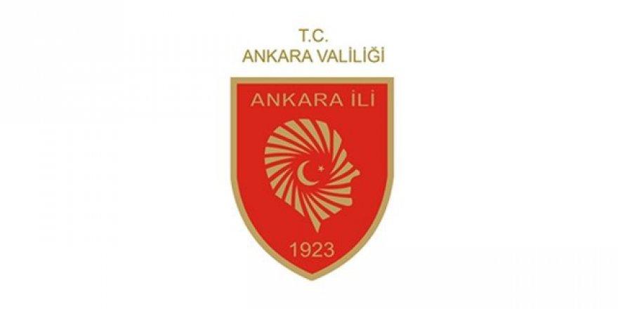 Ankara Valiliği'nden Anma Töreni Açıklanması