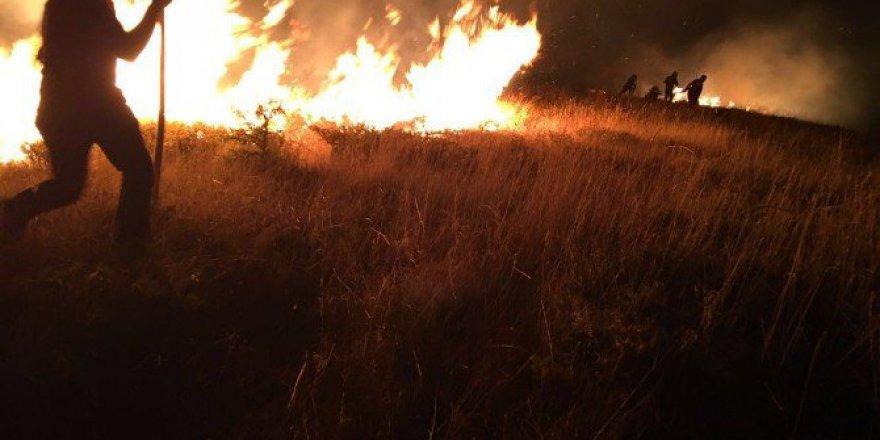 Tunceli, Pülümür'deki Yangına Müdahale Sürüyor!