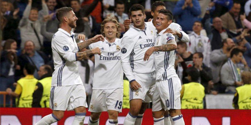 Real Madrid sahasında, Sporting Lisbon'u 2-1 yendi