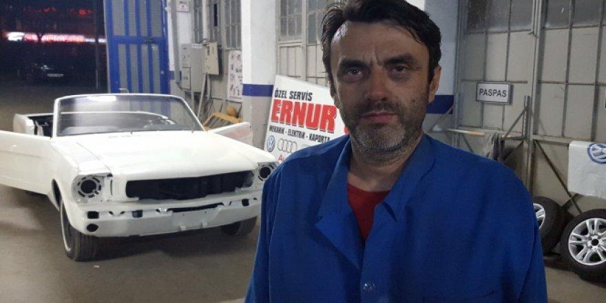 Bursalı kaporta ustası hurda arabalara hayat veriyor