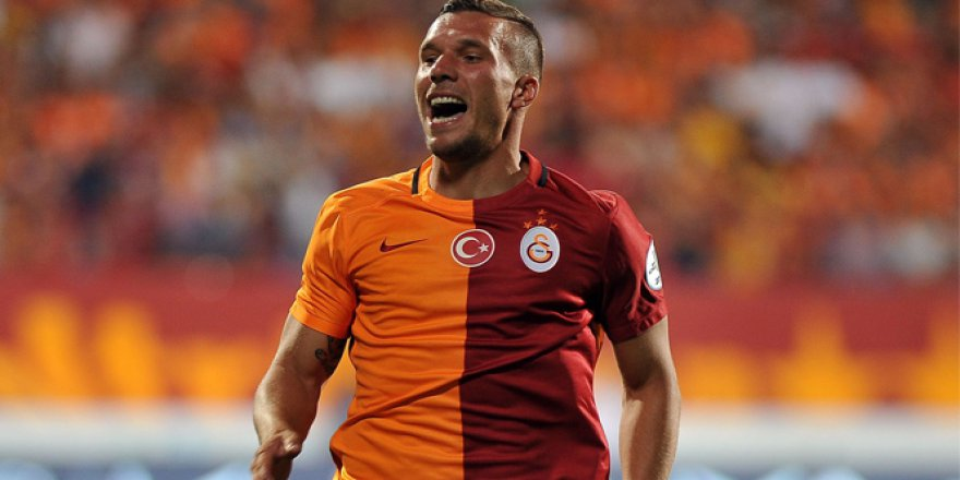 Galatasaray'da Lukas Podolski sevinci