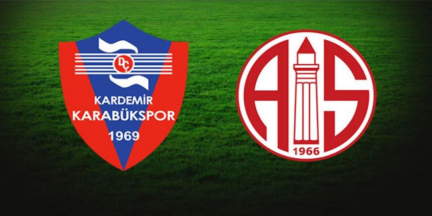 Süper Lig'in 4. haftasında, Antalyaspor ile Karabükspor 32. randevuda