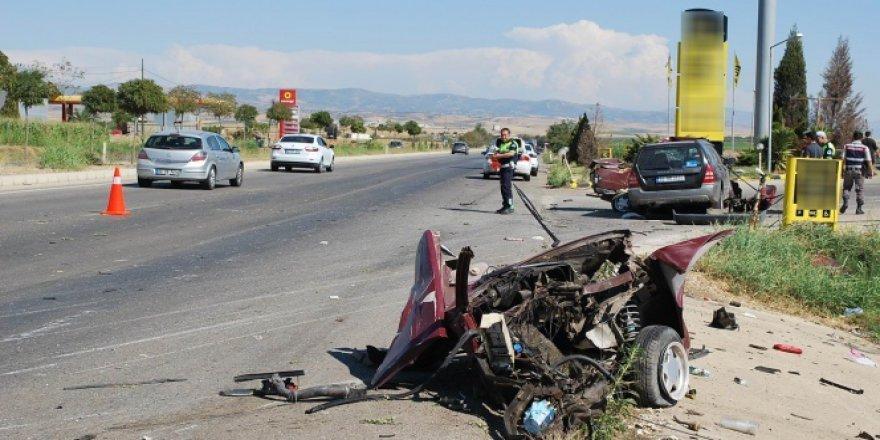 Manisa, Salihli'de kaza: 1 ölü, 4 yaralı