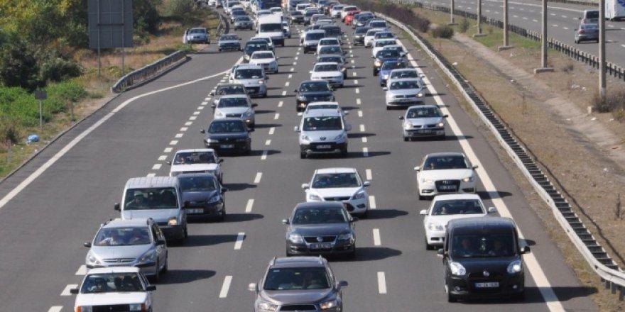 Bayram tatili boyunca Bolu Tüneli'nden 575 bin araç geçti