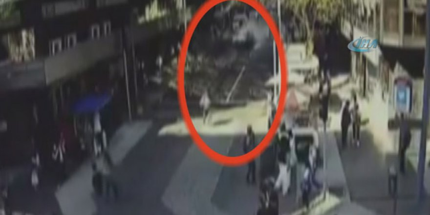 Şili'de bina kamyonetin üzerine yıkıldı