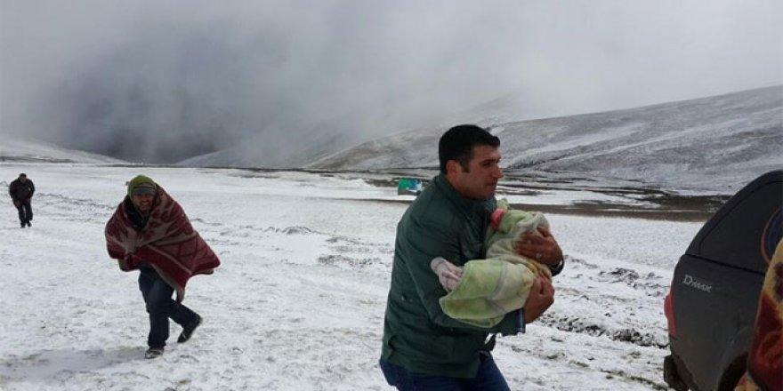 Ardahan Damal'da Yoğun Kar yağışı etkili oldu..