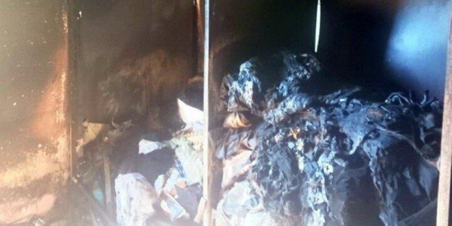 Uşak'takiYangında 2 Yaşındaki Bebek Hayatını Kaybetti