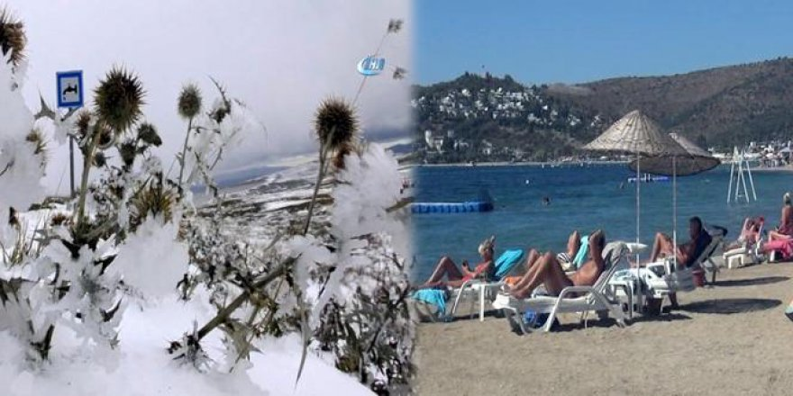 Batıda bahar doğuda kış!