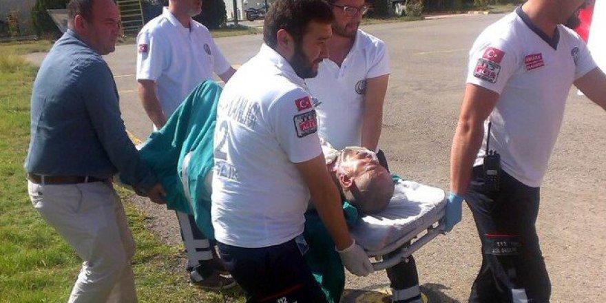 Samsun'da Yanarak Yaralanan Bir Kişi Ambulans Helikopter İle Nakledildi