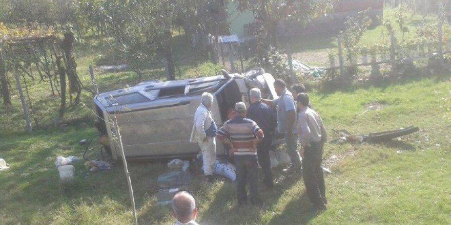 Bartın'da Bir Otomobil Şarampole Uçtu: 1 Yaralı
