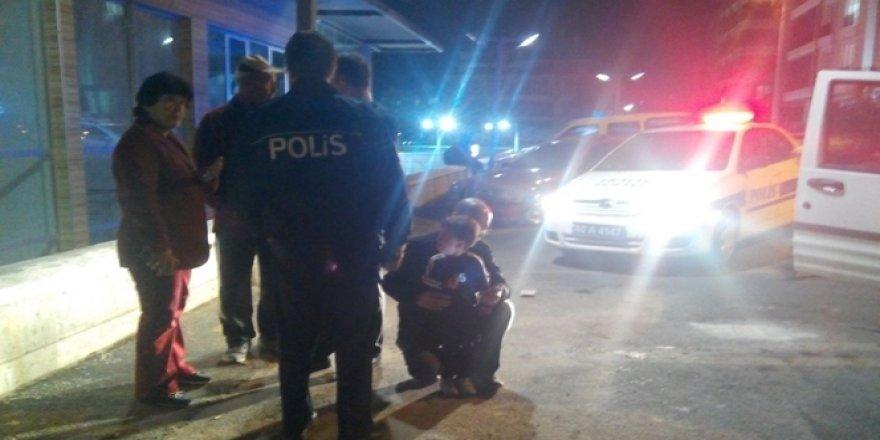Kırşehir'de alkollü baba 2 yaşındaki oğlu ile polisten kaçmaya kalkıştı