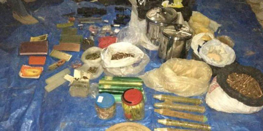 Siirt'te terör örgütüne ait çok sayıda mühimmat ele geçirildi