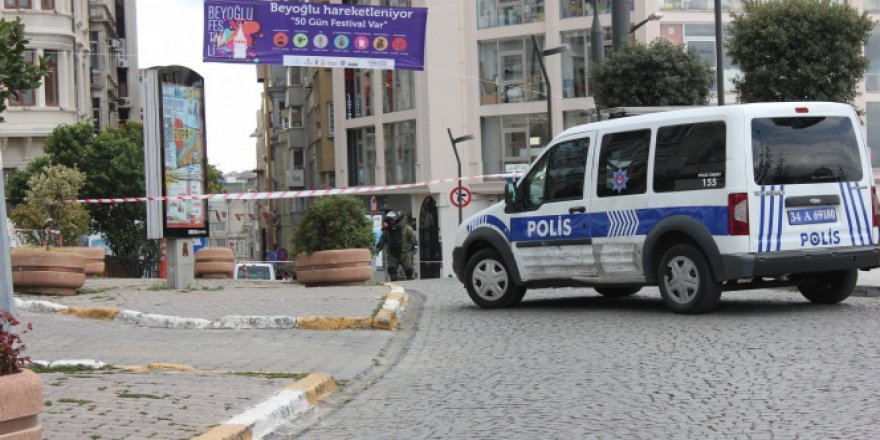 Beyoğlu'nda şüpheli paket alarmı polisi harekete geçirdi