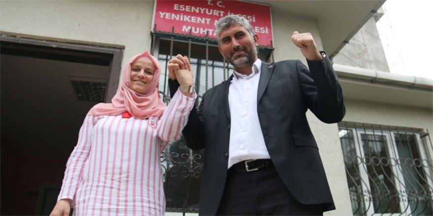 Huriye ve Önder Ay çiftleri Türkiye'nin ilk karı koca kadın muhtarları