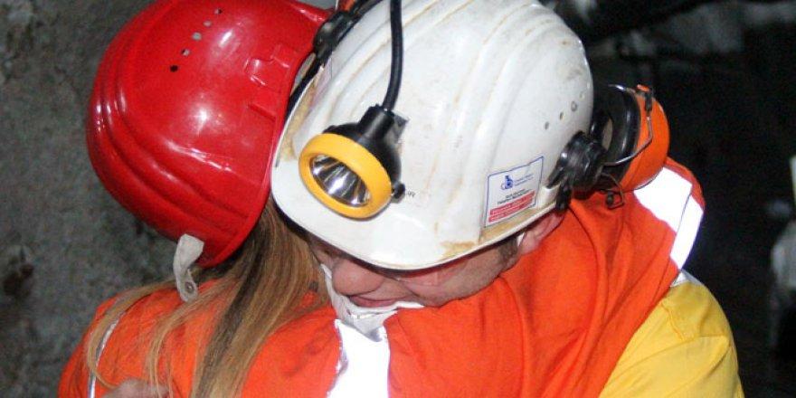 Yerin 600 metre altında madenci kocalara sürpriz