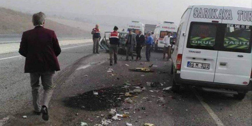 Yozgat'ta Anız Yangını Kazaya Neden Oldu! 1 Ölü, 4 Yaralı
