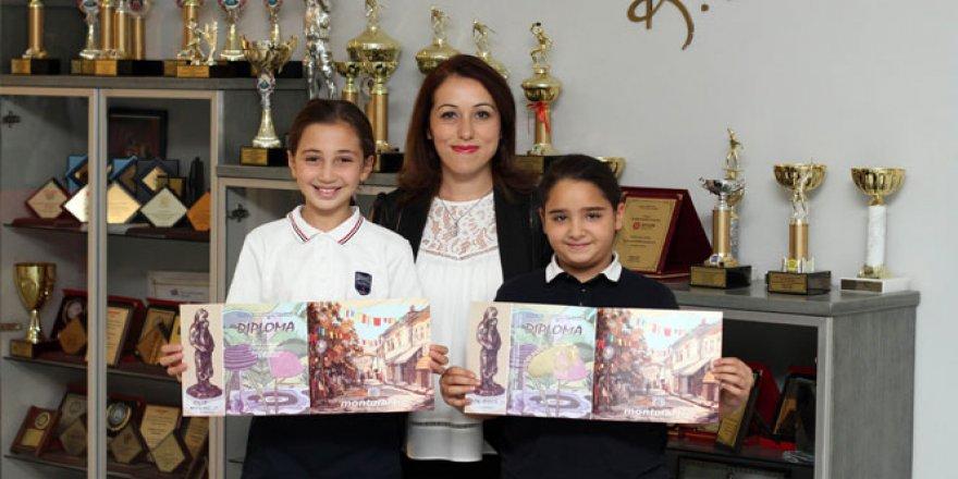 """Uluslararası resim yarışması, """"35. Montmartre of Bitola""""'da Sanko öğrencileri ödüllendi"""