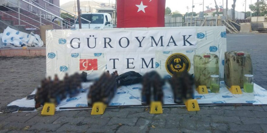 Bitlis, Güroymak'ta Molotof Yapımı Malzemesi Ele Geçirildi