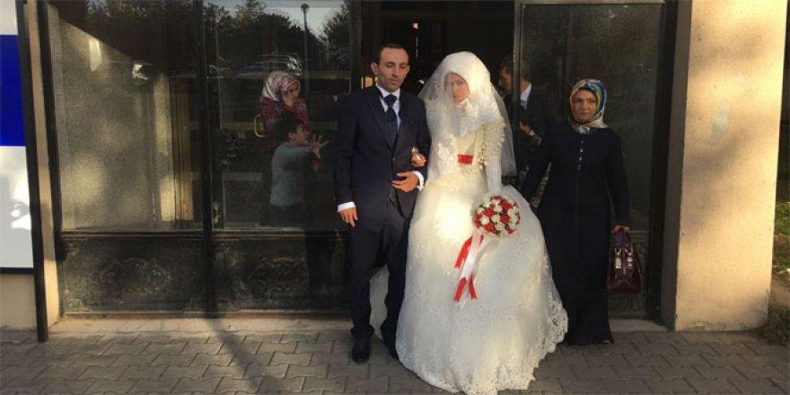 KPSS'den çıktı nikahına yetişti