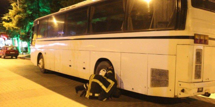 Kütahya'da Otobüsün Altına Giren Kedi Kurtarıldı