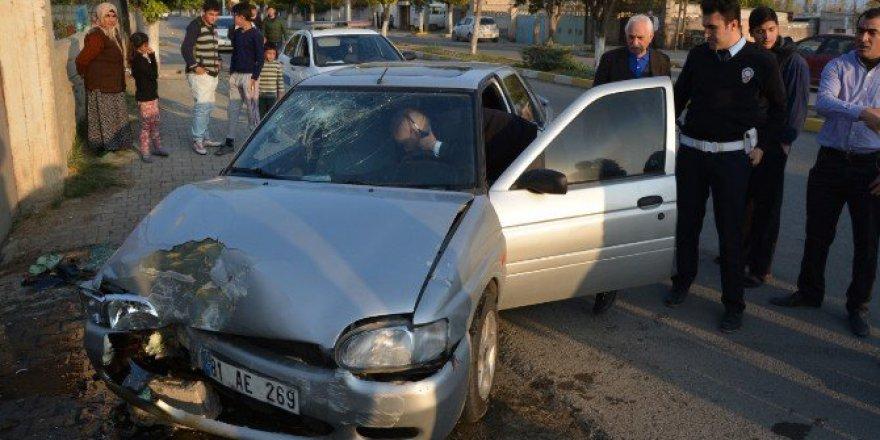 Iğdır'da Otomobil Evin Duvarına Çarptı: 1 Yaralı