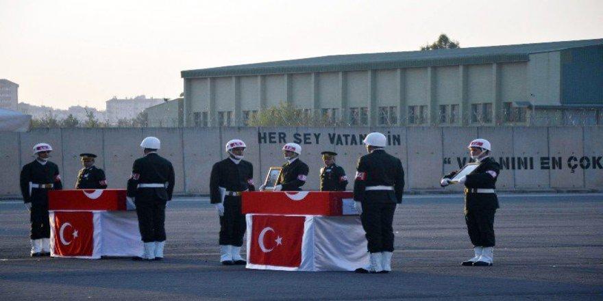 Hani Şehitleri Polat Özbek ve Adnan Uluışık Memleketlerine Uğurlandı