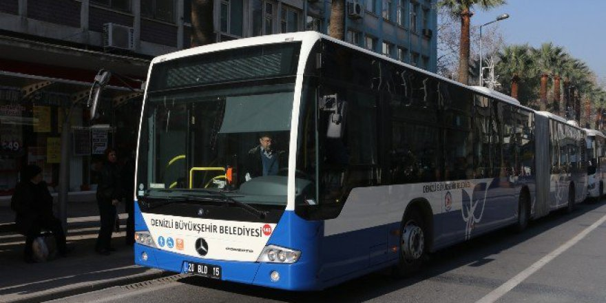 Denizli'de Cumhuriyet Bayramı'nda Belediye Otobüsleri Ücretsiz Olacak