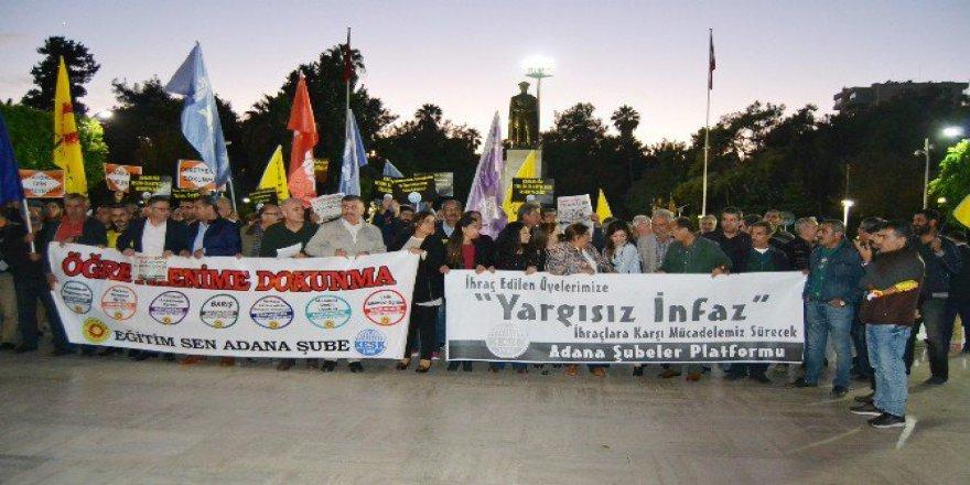 Adana'da KESK ve Eğitim-Sen'den İhraç Edilen Eğitimciler İçin Eylem