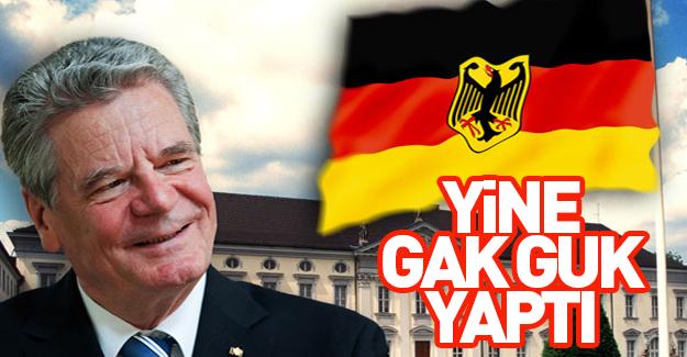 Almanya Cumhurbaşkanından Küstah çıkış!