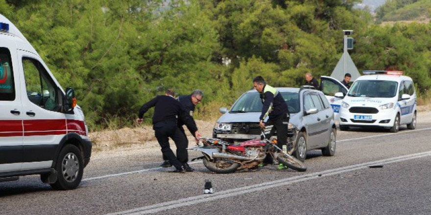Kumluca'da Trafik Kazası: 1 Yaralı