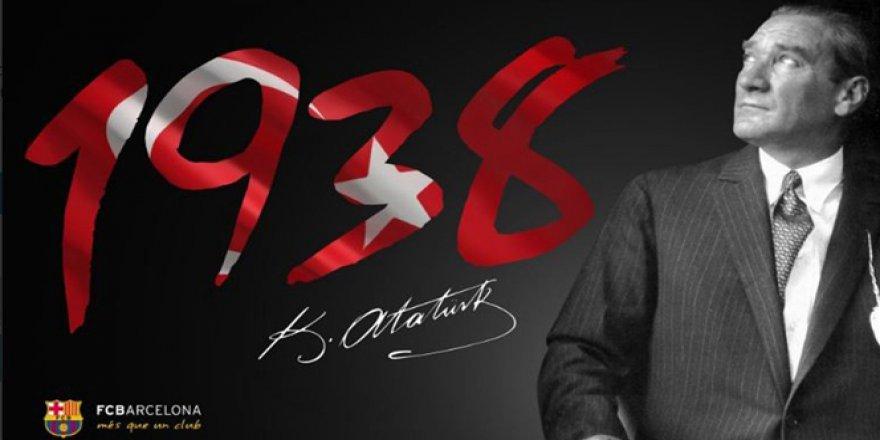 Barcelona'dan Atatürk paylaşımı
