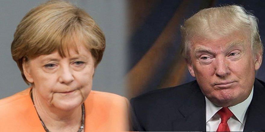 Merkel, Trump'la görüştü
