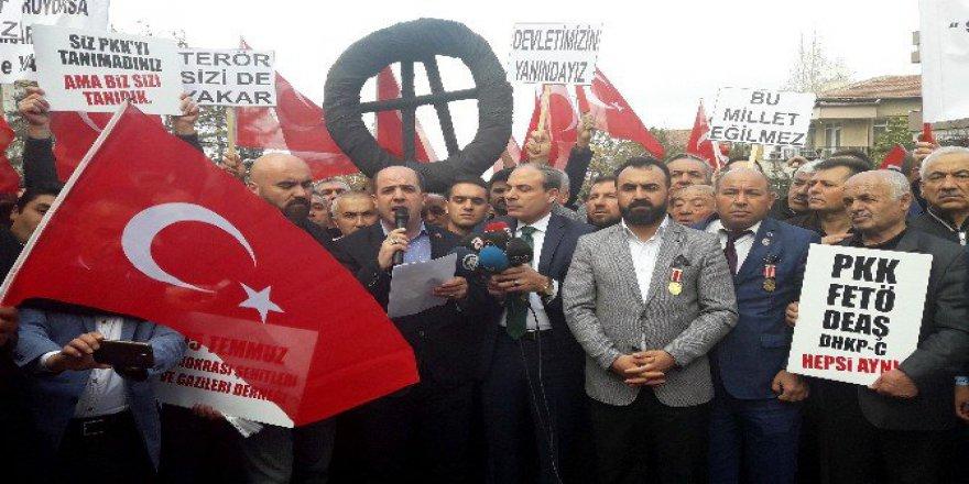 Şehit ve Gazi Aileleri Lüksemburg'u Protesto Etti