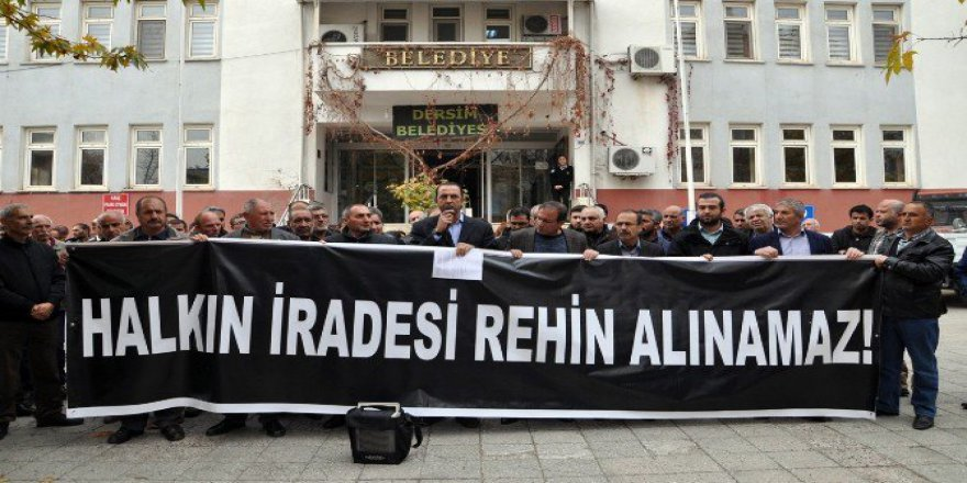 Tunceli'de Gözaltı Protestosu