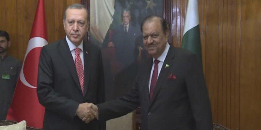 Erdoğan Pakistanlı mevkidaşı Hüseyin ile görüştü