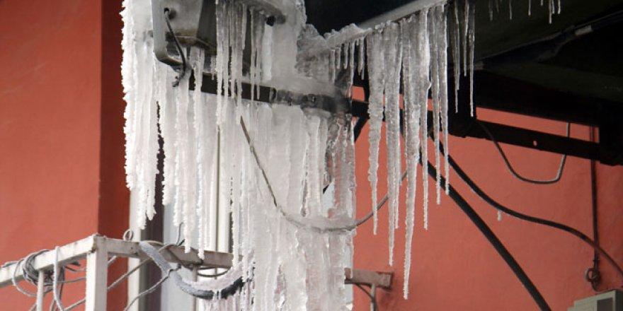 Ardahan'da hava sıcaklığı eksi 28 dereceye düştü