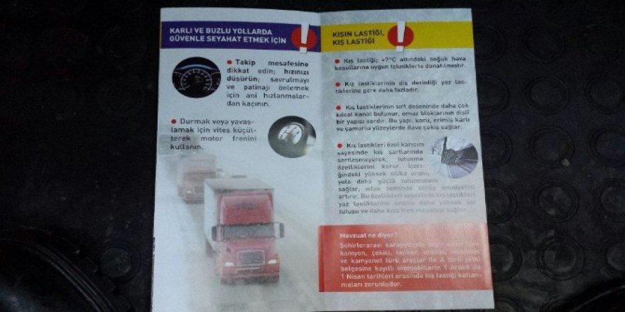 Zonguldak'ta Jandarma'dan Sürücülere 'Kış' Uyarısı
