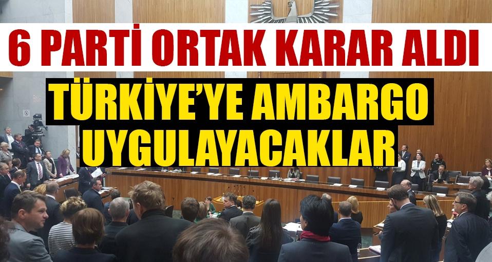 6 Partiden Türkiye için şok karar!