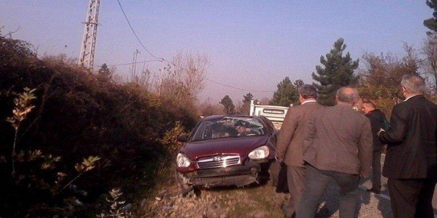 Bartın'da Otomobil Takla Attı, Sürücü Ölümden Döndü
