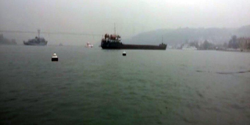 İstanbul Boğazı, Anadolu Hisarı açıklarında kuru yük gemisinin dümeni kilitlendi!