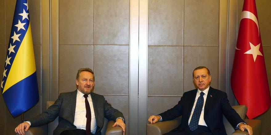 Erdoğan  Bosna-Hersek'li Bakir İzzetbegoviç'i kabul etti