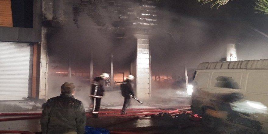 Ankara'da Halı Mağazasında Yangın