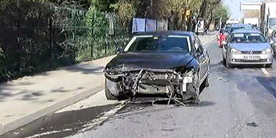 Erdoğan'ın Konvoyunda Kaza: 4 Polis Yaralandı