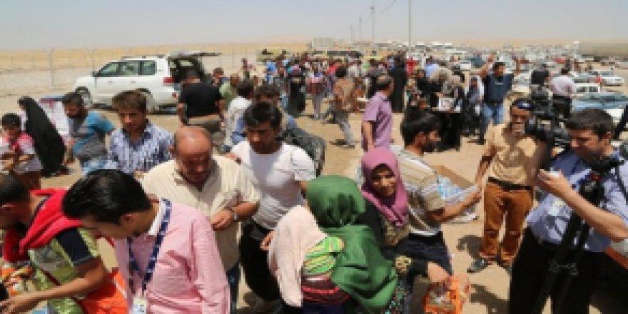 Musul'da Yapılan insani yardımda izdiham