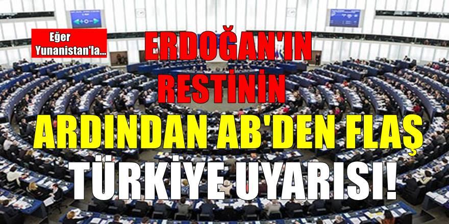 Cumhurbaşkanı Erdoğan rest çekti! AB'den kritik açıklama geldi