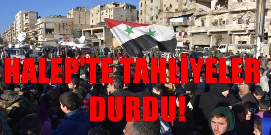 Halep'te korkulan gelişme! Tahliyeler durdu