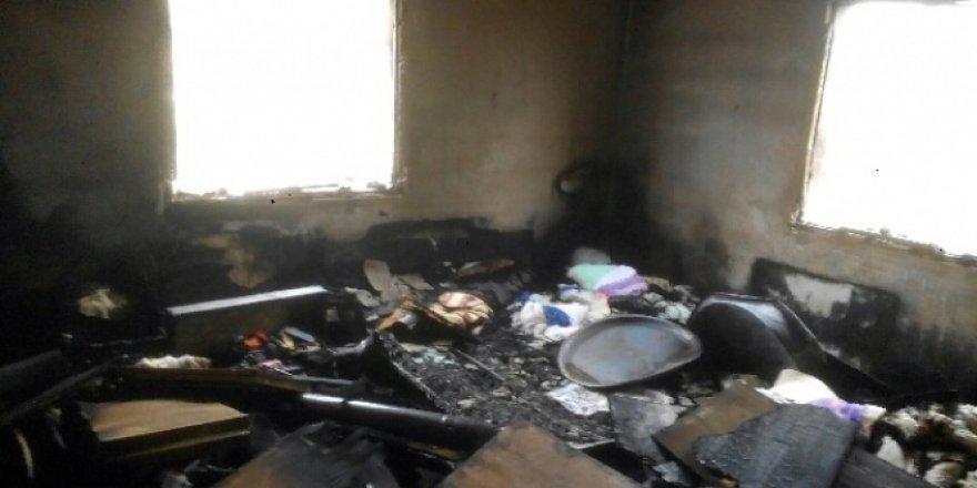 Doğuştan engelli karısını öldürdü, evi ateşe verdi!