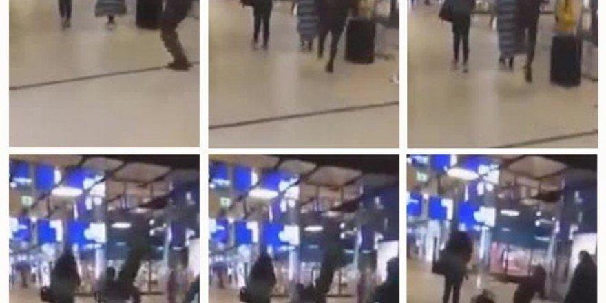 Hollanda'da Kadına Uçan Tekmeli Saldırı