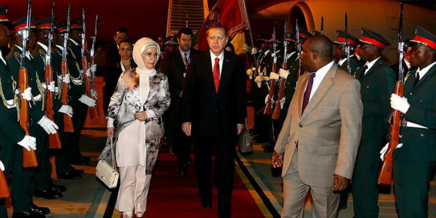 Cumhurbaşkanı Erdoğan Mozambik'te