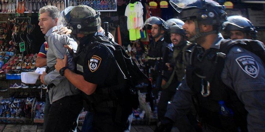 İsrail Filistinli 590 Kişiyi Gözaltına Aldı